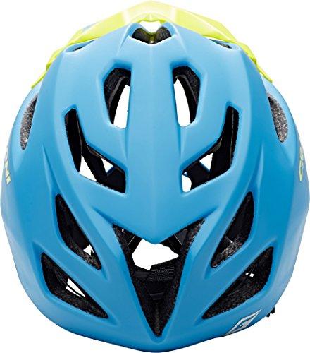 Cratoni Fahrradhelm C-Maniac, Blue/Lime Matt, 58-61 cm, 112406B3 - 5