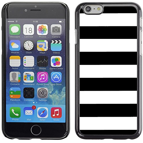 Graphic4You Color Stripes Pattern Design Hard Case Cover for Apple iPhone 6 Plus (Aqua Blue) Schwarz
