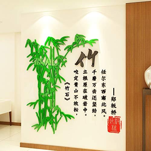 3d stereoskopische Akli Malerei Wandaufkleber Chinesische Wind-Tinte Studie Wohnzimmerwand Tor dekorativen Wandaufkleber 1800 * 1796mm Aqua -