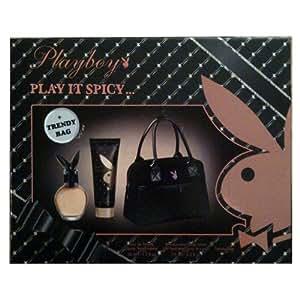 Playboy - Coffret Play It Spicy 3 Pièces Eau de toilette 50 ml + Lait pour le corps 75 ml + Sac à main