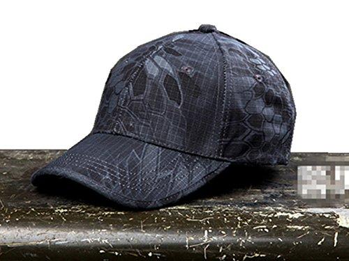 Cosplayitem Traspirante Mimetico Cappellini da Baseball da Soldato Delle Militare Tattica per Escursionismo e CampeggioRegolabile (Nero, Standard)