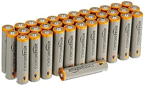 Piles Lithium Aaa - AmazonBasics Lot de 36 piles alcalines Type