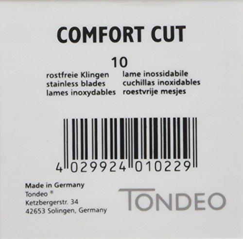 Tondeo 19012 Comfort Cut Klingen, 1er Pack (1 x 10 Stück)