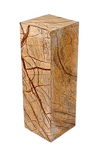 Säule aus 100% hochwertigem indischen Marmor, sehr stabil, als Sockel für Skulptur, Büste, Vasen, oder Galeriesockel oder als Blumensäule, als Dekosäule und Schmucksäule, Schlicht, klassische Optik, Standfest, ideal für Wohnraum, Terrasse, Balkon oder Garten, H/B/L: 60x20x20 cm; Gewicht: 25 KG -