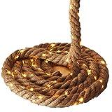 Seil-Girlande 5 m 4cm stark Seil/Tau mit Lichterkette 150 LED Weihnachtsdeko