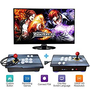 ZQYR GAME# 3D Videoautomat Classic, 2 Spieler, 1920×1080 Full HD Multiplayer Home Arcade Konsole, 2350 Spiele All in 1 Double Stick Buttons Power HDMI,Model: ACT-1829
