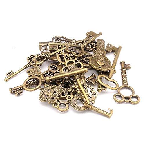Goodplan Gemischte Packung mit 40 Vintage Keys Antique Bronze Key Charms Set für DIY Schmuck machen Gebrauch