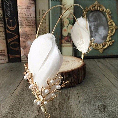 Weddwith Kopfschmuck Bridal Headwear European Hochzeitskleid koreanischen Stil Braut Feder...