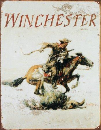 winchester-plaque-publicitaire-metal-winchester-cowboy