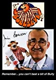 Bullseye TV Show Bendy Bully Jim Bowen Signed (Pre-Printed) Autograph Exclusive A4 Print 2