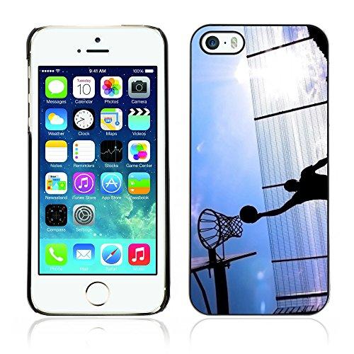 Graphic4You Basketball Korbball Spiel Sport Thema Design Harte Hülle Case Tasche Schutzhülle für Apple iPhone 5 und 5S Design #4