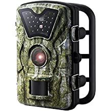 """Trail Camera, [New Version] VicTsing HD Infrared Game&Trail Camera with 24 Black LEDs 8MP 720P 2.4"""" LCD Screen IP66 Waterproof Hunting Scouting Cam Great for Night Vision Wildlife Monitoring, Surveillance, Home Security etc - Camouflage Color"""