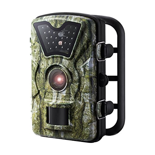 Trail Camera, [New Version] VicTsing HD Infrared Game&Trail Camera with 24 Black LEDs 8MP ...
