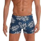 CICIYONER Übergröße Badeshorts Herren Herrenhosen Atmungsaktiv Trunks-Hosen Hose Solide Badehosen Strandhosen Kurze Hose Slim Wear (L, Blau)