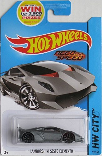 2014 Hot Wheels Hw City - Lamborghini Sesto Elemento (Grey) - Need For Speed by Hot Wheels