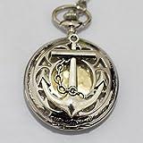 Charm Uhr Halskette Anhänger Anker Charm Herren Taschenuhr Taschenuhr Halskette Anker Anhänger einfach rund