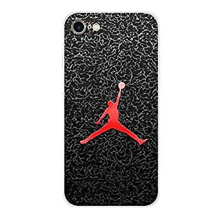 Aksuo for iPhone 7 Case,Women Girls boy Men Printed Transparent Clear Design Plastic Case with TPU Bumper Protective Cover,Play Basketball