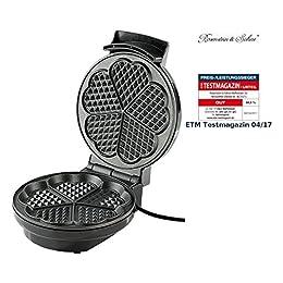 Rosenstein & Söhne Waffel Maschine: Waffeleisen für Herzwaffeln (Elektrisches Waffeleisen)