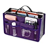 Panzl Women Multipurpose Multipocket Handbag Organizer, Travel Makeup Cosmetic Organizer Handbag