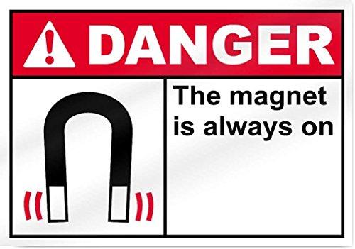 Eugene49Mor der Magnet ist Immer ON3Gefahr Aluminium Metall Schild-35,6cm Breit x 25,4cm Hoch-UV-geschützt und Wetterfest