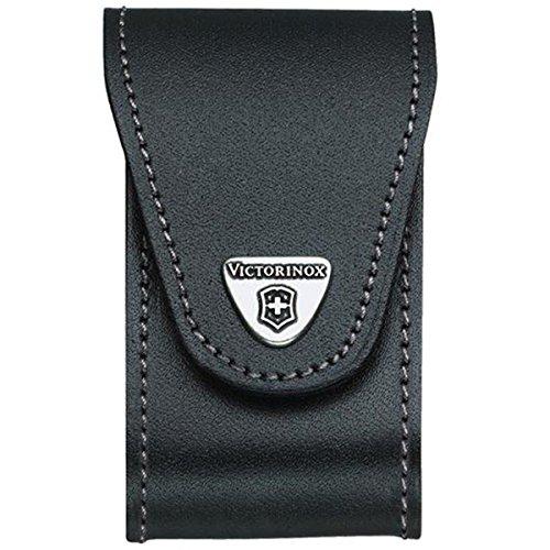 Victorinox Leder-Etui (für Grosse Taschenmesser, Gürtelschlaufe, Klettverschluss) schwarz
