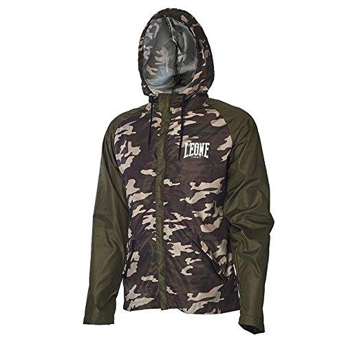 Giacca con Cappuccio Leone Training Jacket AB799 Mimetico (L)