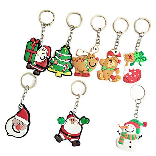 STOBOK 16 Piezas Llavero PVC Suave Tema Navidad Regalos