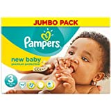 Pampers New Baby Lot de 74 couches Taille 3