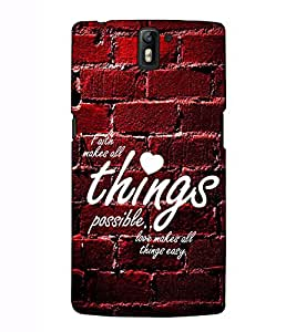 Fuson Designer Back Case Cover for OnePlus One :: OnePlus 1 :: One Plus One (Faith makes all things theme)