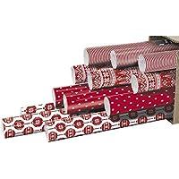 Clairefontaine 211408AMZC Carton de 12 Rouleaux papier cadeau 2 m x 70 cm motif Noel
