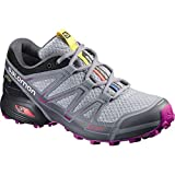 Salomon L39054600, Zapatillas de Trail Running Para Mujer, Gris (Light Onix/Black/Deep Dalhia), 37 1/3 EU