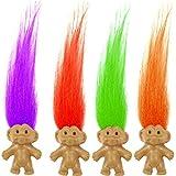 German Trendseller 6 x Trolle mit bunten Haaren ┃ Troll Mix für Kinder ┃ Mitgebsel ┃ Kindergeburtstag ┃ 6 Stück