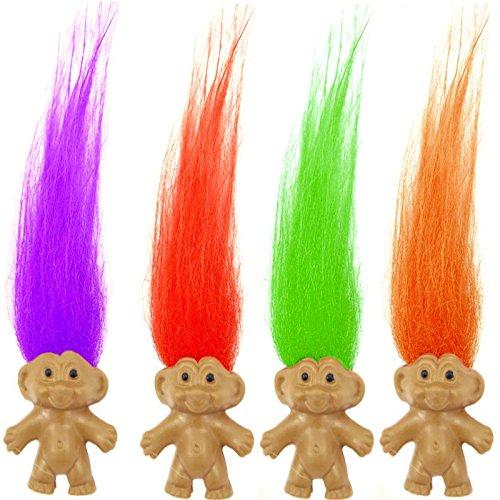 Preisvergleich Produktbild German Trendseller® - 12 x Trolle mit bunten Haaren  Troll Mix für Kinder  Mitgebsel  Kindergeburtstag  12 Stück