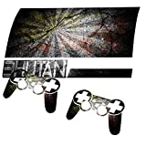 Graffiti Flagge Bhutan, Designfolie Sticker Skin Aufkleber Schutzfolie mit Farbenfrohem Design für PlayStation 3 Fat