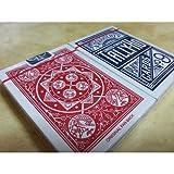 2 (due) Mazzi di carte Tally Ho Fan Back - dorso rosso e blu - SOLOMAGIA