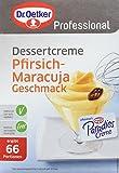 Dr. Oetker Professional Dessertcreme mit Pfirsich-Maracuja-Geschmack, Dessertpulver in 1 kg Packung