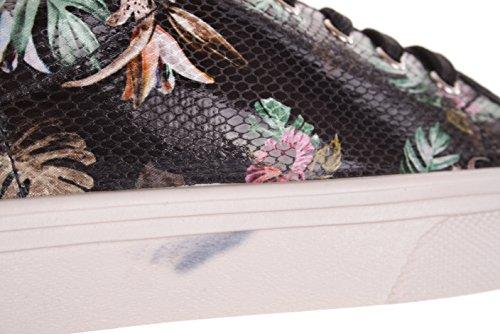GUESS Donna Motivo floreale signore sneaker allacciata Nero