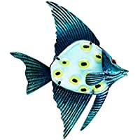 Patio Eden - Metal Fish Wall Art - 32cm - Perfect Patio Decoration - Indoor Or Outdoor Hanging Beach Decor - Easy To Hang from Maad Brands Store
