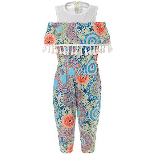 Girl Harem Blue Kostüm - Smile Mädchen Freizeit Jumpsuit Overall Einteiler Onesie 21798 Blau 116