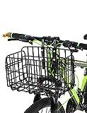 Lixada Faltradkorb Faltbare Abnehmbare Hängende Fahrrad Gepäckträger Für Mountainbikes Zubehör Fahrradrahmen Korb - Schwarz