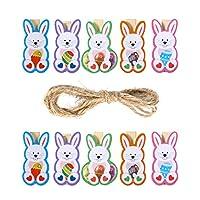Descrizione  Questo articolo è un pacchetto di clip in legno 10 pezzi che sono progettati come forma di coniglio cartone animato. Sono realizzati per contenere memo, biglietti, foto e molto altro. Una corda di canapa è attaccata per appendere...