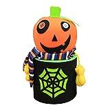 Junjie Happy Halloween Party Flasche Fall Candy Jar Haushalt Kinder können Bin Dekor Box Süßigkeiten Glas Kann Attraktives Design Mode und Süß Kunststoff Größe: 19 * 9cm