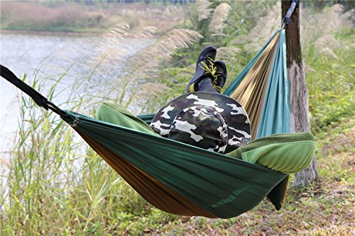 NatureFun Tragbare 300*140cm Ultra-Leichte 100% Fallschirm-Nylon Reise Camping Hängematte für Backpacker - 5