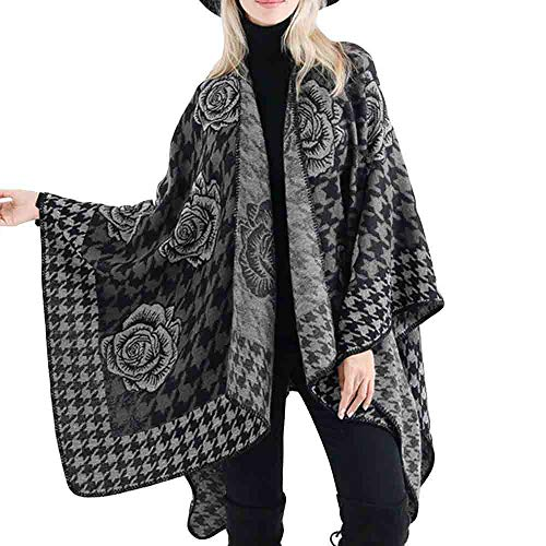 Plaid Logo Shirt (Schal Karoschal Frauen Mädchen Deckenschal Winterschal Herbstschal Strickpullover Strickjacke Wintermantel Oversized Plaid Muster Oversized Fransen Poncho Karo Top Qualität)