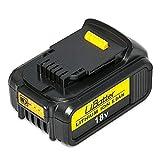 NeBatte DCB184 18V 5.0Ah Lithium Ersatzakkus für werkzeug akku DeWalt DCB180 DCB181 DCB182 DCB183 DCB184 DCB200 Akku für Elektrowerkzeuge mit LED-Kontrollleuchte
