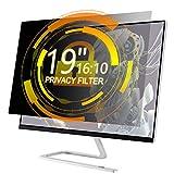 Xianan 19 Zoll 16:10 Breitbild Displayfilter Bildschirmfilter 16,14x10,12zoll/410x257mm Displayschutz Blickschutzfolie Sichtschutzfolie Privacy Filter