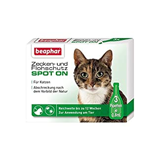 beaphar tick and flea protection spot-on 3 x 0.03fl.oz Beaphar Tick and Flea Protection Spot-On 3 x 0.03fl.oz 51TswNakvbL