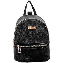 LuckES mochila bandolera señoras/las mujeres de doble bolsa de viaje de la universidad del viento de la moda para los estudiantes las mujeres de doble bolsa de viaje de la universidad