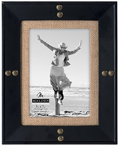 malden-international-designs-rockport-distressed-picture-frame-with-brass-nailheads-and-burlap-mat-5