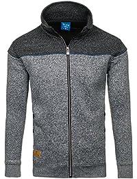 BOLF – Pull de sport – Sweatshirt – Fermeture éclair – Classic – Motif – T&C STAR TC71